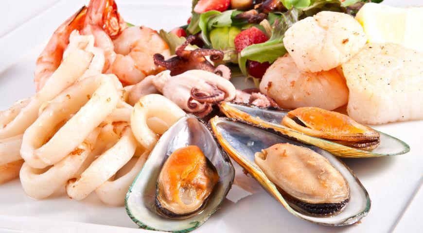 Морепродукты и питание